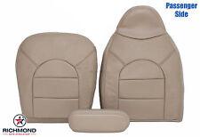 99 Ford F350 Lariat -Complete PASSENGER Side Replacement Leather Seat Covers TAN