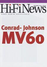 Conrad Johnson MV-60 Original Preamp Brochure