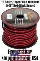 18 Gauge Red Black Speaker Wire 12 V Automotive Car Audio Harness Cable 200 FT