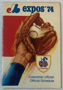 1974 MONTREAL EXPOS Pocket Schedule