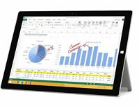 "Microsoft Surface Pro 3 128GB or 256GB intel Core i5-4300U 12"" Windows 8.1"