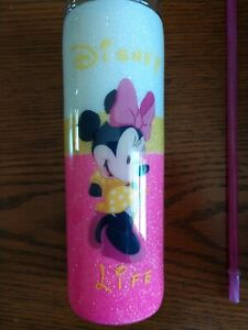 20 Oz Decorated Stainless Steel Tumbler Cup Minnie Mouse