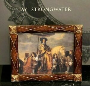 """Jay Strongwater New Harlequin Argyle Picture Frame in Original Box 3.5 X 4.5"""""""