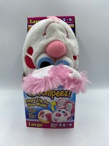 Stompeez! Perky Pink Puppy Slippers Large Size 2.5 - 6