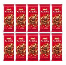 10 x Aerated Milk Chocolate Bars KARUNA Bubbly Aero Sweets 10 x 80g 2.8oz
