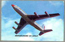 1962 AMERICAN Airlines Boeing 707 ASTROJET Postcard