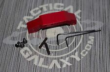 RED ANODIZED Extended trigger guard  223 300aac 5.56 can use w/winter gloves on