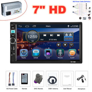 """7"""" Bluetooth DAB Car Radio Video Stereo MP5 Player Mirror Link for Android/iOS"""