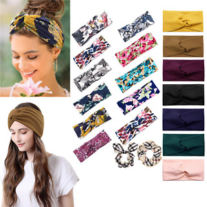 Headbands for Women Knotted Twist Boho Stretchy Hair Bands for Girls Turban Head