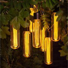 Outdoor Garden Patio 10 Pc Vintage Edison Solar String Bulb Lights - X