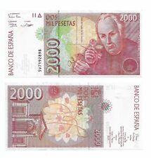 Billet Espagne 2000 pesetas 1992