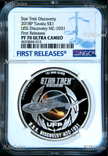 2018 Star Trek DISCOVERY USS NCC-1031 1 oz Silver $1 Coin NGC PF70 FR