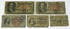 Fractional Currency Lot ~ 2 x 50 Cent, 15 Cent, 10 Cent, 3 Cent