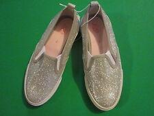 Joe Fresh girls silver metalic slip-on size 2 New
