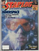 Starlog  Science Fiction Aug 1987  #121 Innerspace Steven Spielberg John Lithgow
