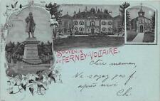 CPA 01 FERNEY VOLTAIRE SOUVENIR ANNEE 1898 VOIR VERSO (dos non divisé)