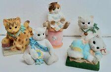 Calico Kittens Lot of 5 Mini Figurines Priscilla Hillman Enesco #'s In Descript.