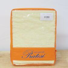 NEW Pratesi Hotel Stone Washed Linen EURO Pillow Sham YELLOW Bedding $150 G4147