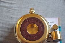 Hip Flask 8oz Metal Drink Bottle Wet Your Whistle Metal 24K Gold Plated Gift