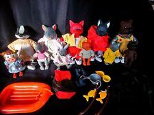 Lot 11 animaux accessoires camping pêche Les copains de la forêt vintage Berchet