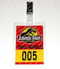 Jurassic Park ID Badge/Card Dinosaur Tour Vehicle Cosplay Costume Prop Comic Con