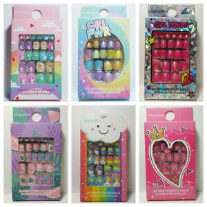Primark Childrens Kids False Finger Nails - 24 Pack Press Stick on Nail Glued