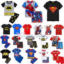 Kids Tops Child Boys Superhero Spiderman T-shirt Shorts Pants Outfits Sets Daily