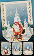 Unica Bella Vecchio Adventstüte Nicholas Pacchetti di Natale 1942> Rarità