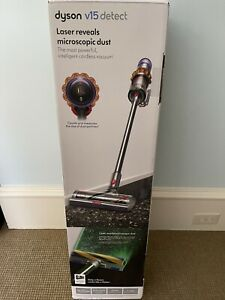 Dyson V15 Detect Cordless Stick Vacuum Cleaner - Yellow/Iron Brand new sealed