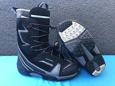 Salomon Synapse Customfit Pro Snowboard Boots Mens Size US 9.5 Black/Grey