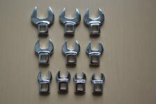 "New Craftsman 10-PC 3/8"" Drive Metric Crowfoot Wrench Set  (FULL POLISH)"