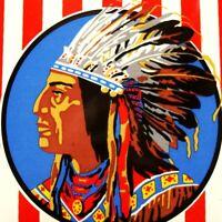 DAPOL Indianer Tür- Emailschild MAKELLOS Petroleum USA Öl Benzin Tankstelle ESSO