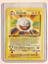 ELECTRODE 1st Edition ITALIAN Base Set 21/102 Rare Pokemon N/MINT CONDITION
