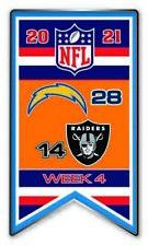 2021 Semaine 4 Bannière Broche NFL San Diego Vs. Las Vegas Raiders Super Bol