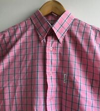 Original Ben Sherman Shirt Short Sleeves Pink Checked size M