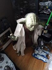 Star Wars Yoda with lightsaber statue 1:1 scale rare