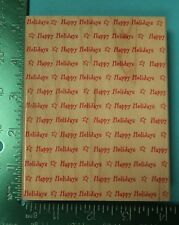 Large HAPPY HOLIDAYS Background Rubber Stamp by Hero Arts  Christmas
