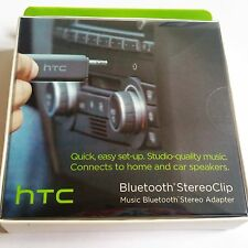 Brand NEW HTC Aux Bluetooth Music Streaming Stereo Clip Adapter Retail Packaging