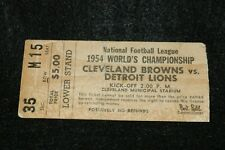 1954 NFL World's Championship Ticket Stub Cleveland Browns vs Detroit Lions