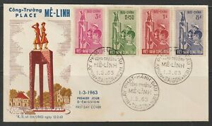 1963 South Vietnam FDC Trung Sister' Monument Scott # 203-206