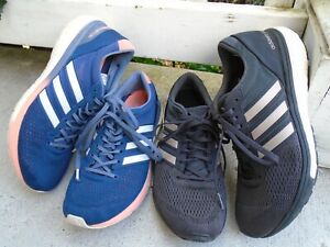 lot 2 pairs Womens Adidas Adizero boston boost running shoes sz 8.5