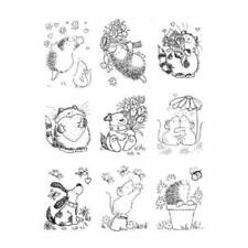 DIY Cute Hedgehog Pattern Transparent Seal Card Decorative Silicone Stamp Sheets
