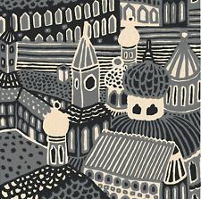 Marimekko Gray Kumiseva fabric panel 2.8 yards, HUGE GORGEOUS WALL ART piece