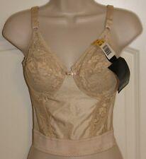 Lady Marlene underwire Longline bra Lace cups Vintage 36B  BLACK  640