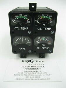 Sigma-Tek 169AU-BWL Beechcraft Cluster CHT/Oil Temp/Oil Pressure/Amps 1U305-007