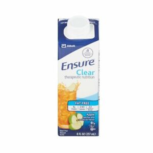 Ensure Clear Apple, 8 Ounce Resealable Carton, Abbott 64903 - CASE OF 24