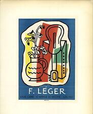 1959 Mini Poster Lithograph ORIGINAL Print Fernand Leger F Leger Louis Carre