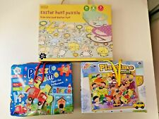 3 x Jigsaw Puzzles for Age 3+- M&S Easter, Grafix Playtime & Anker Spot The Diff