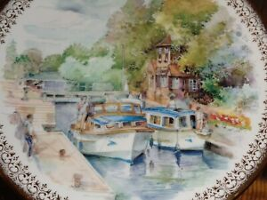 Queen Duchy Fine China Collectors Plate Boat Scene Summer