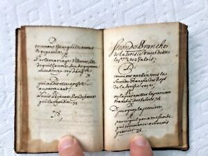 1600's 17th C. Manuscript Book Handwritten Calligraphy History Of France 128pp